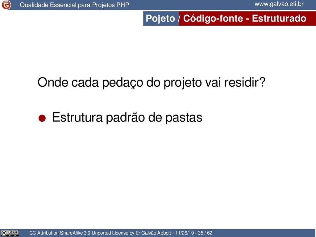 Pojeto / Código-fonte - Estruturado CC Attribut...