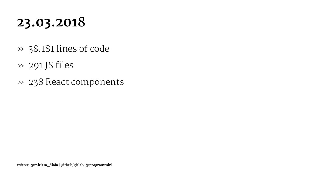 23.03.2018 » 38.181 lines of code » 291 JS file...
