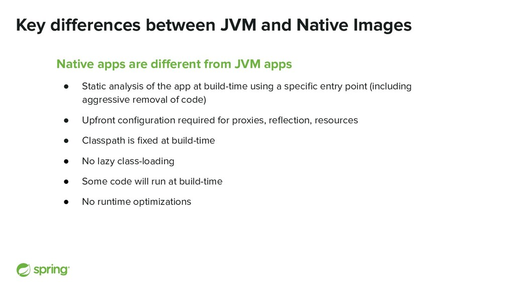 Key differences between JVM and Native Images Na...