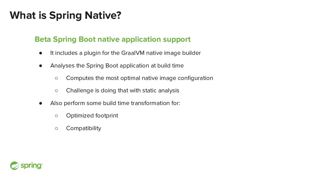 What is Spring Native? Beta Spring Boot native ...
