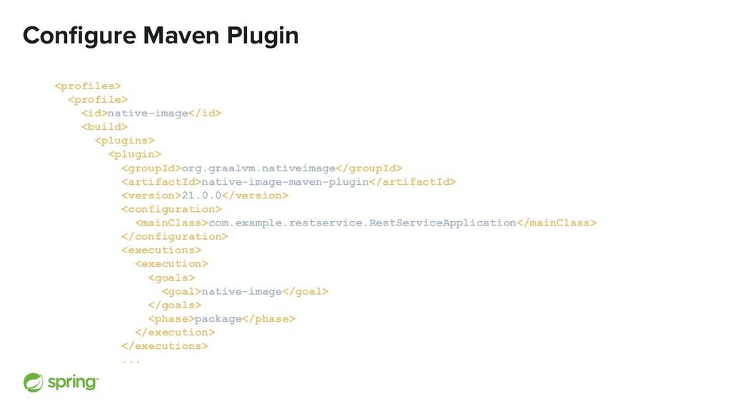 Configure Maven Plugin <profiles> <profile> <id>...