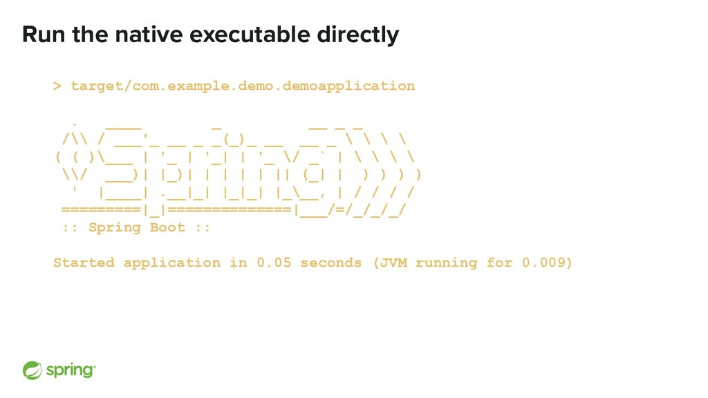 Run the native executable directly > target/com...