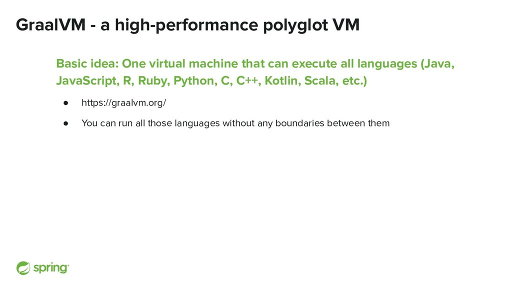 GraalVM - a high-performance polyglot VM Basic ...