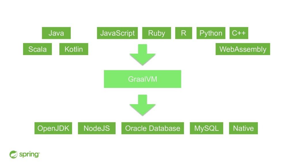Java Scala Kotlin JavaScript Ruby R Python C++ ...