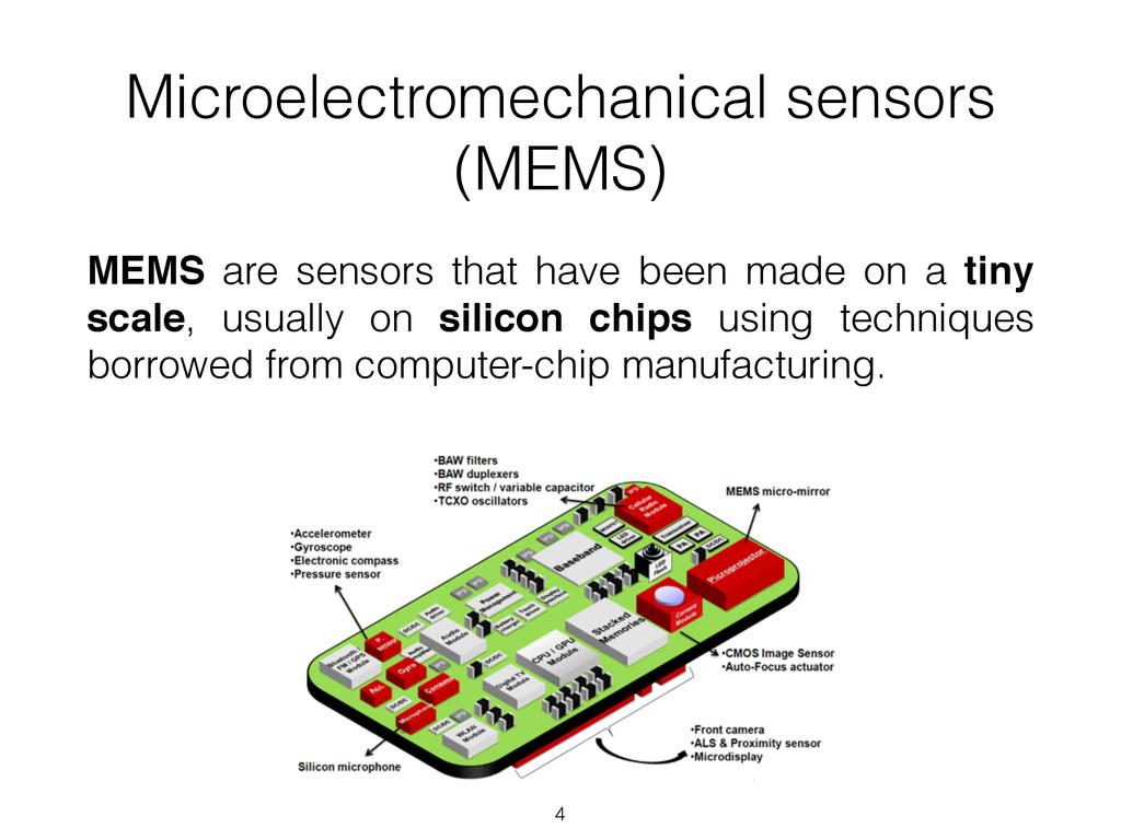 Microelectromechanical sensors (MEMS) MEMS are ...