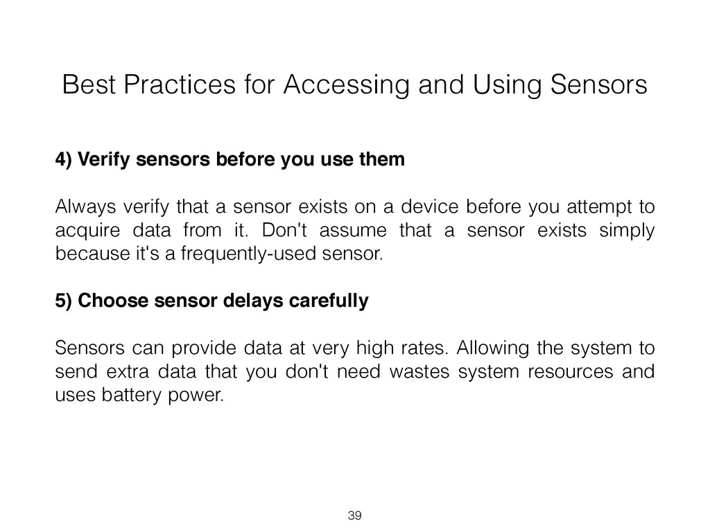 Best Practices for Accessing and Using Sensors ...