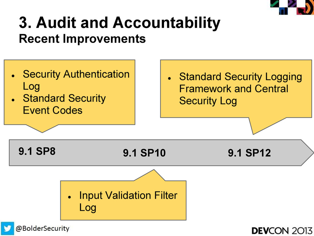 3. Audit and Accountability Recent Improvements...