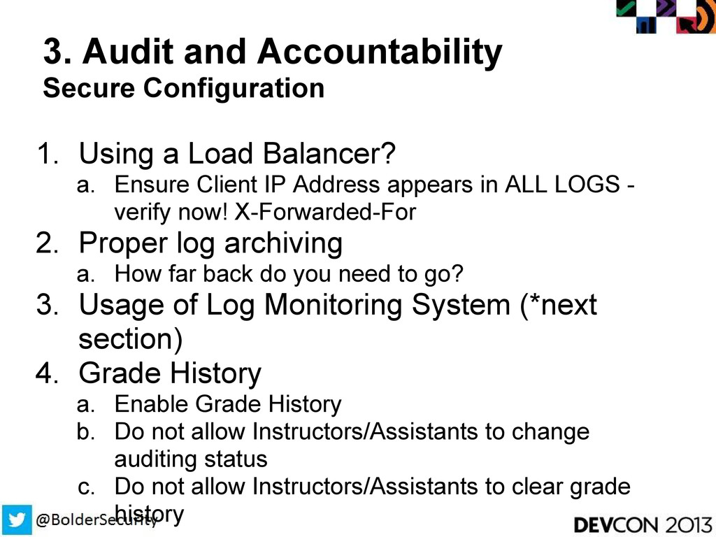 3. Audit and Accountability Secure Configuratio...