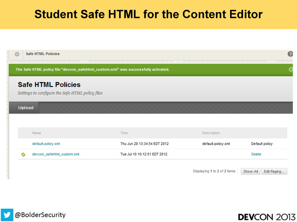 Student Safe HTML for the Content Editor