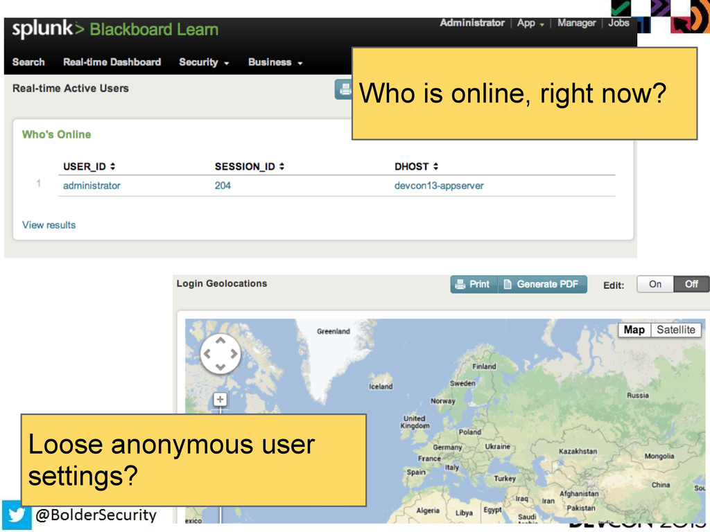 Loose anonymous user settings? Who is online, r...