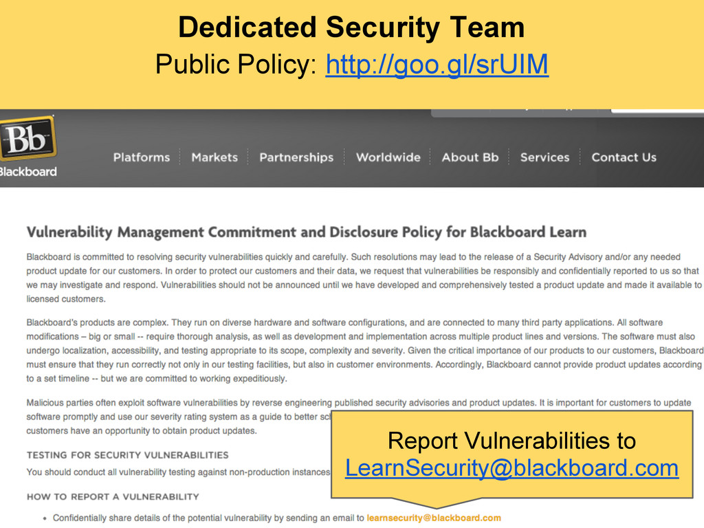 Dedicated Security Team Public Policy: http://g...