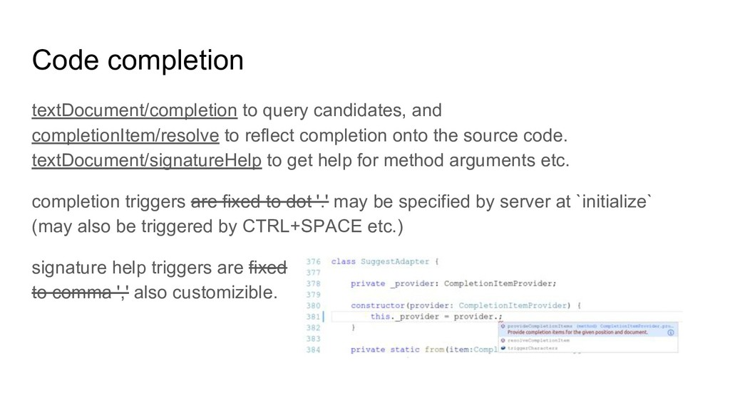 Code completion textDocument/completion to quer...
