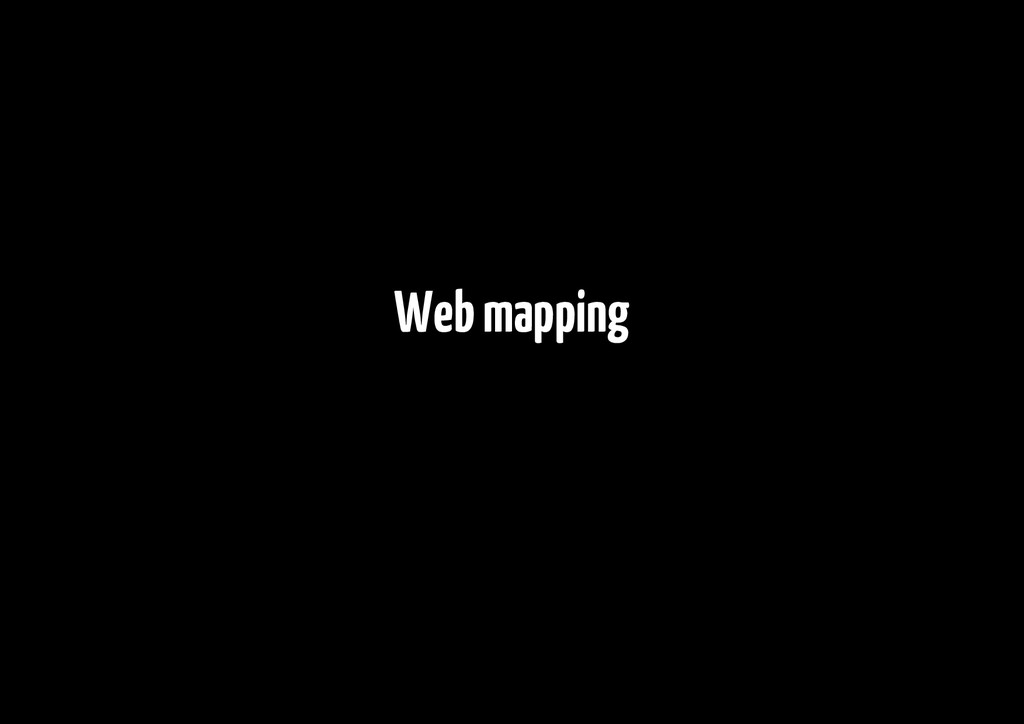 Web mapping