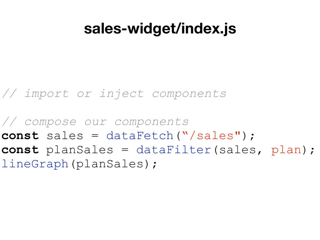 sales-widget/index.js // import or inject compo...