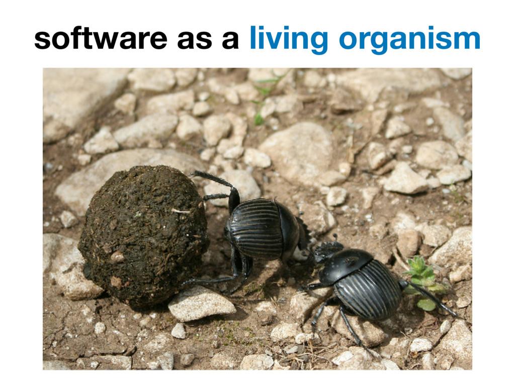 software as a living organism