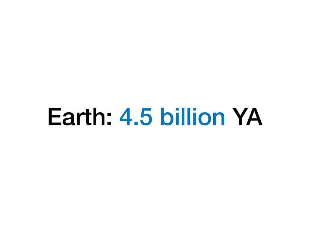 Earth: 4.5 billion YA