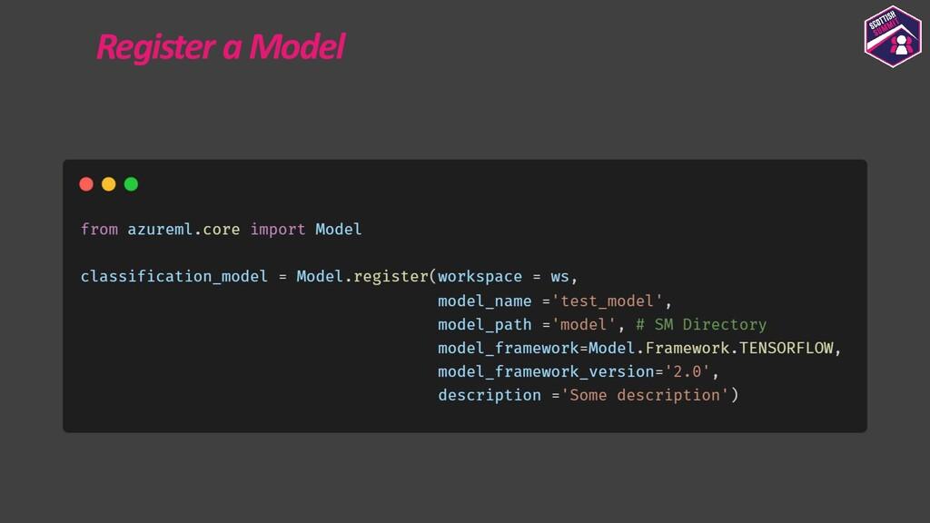 Register a Model