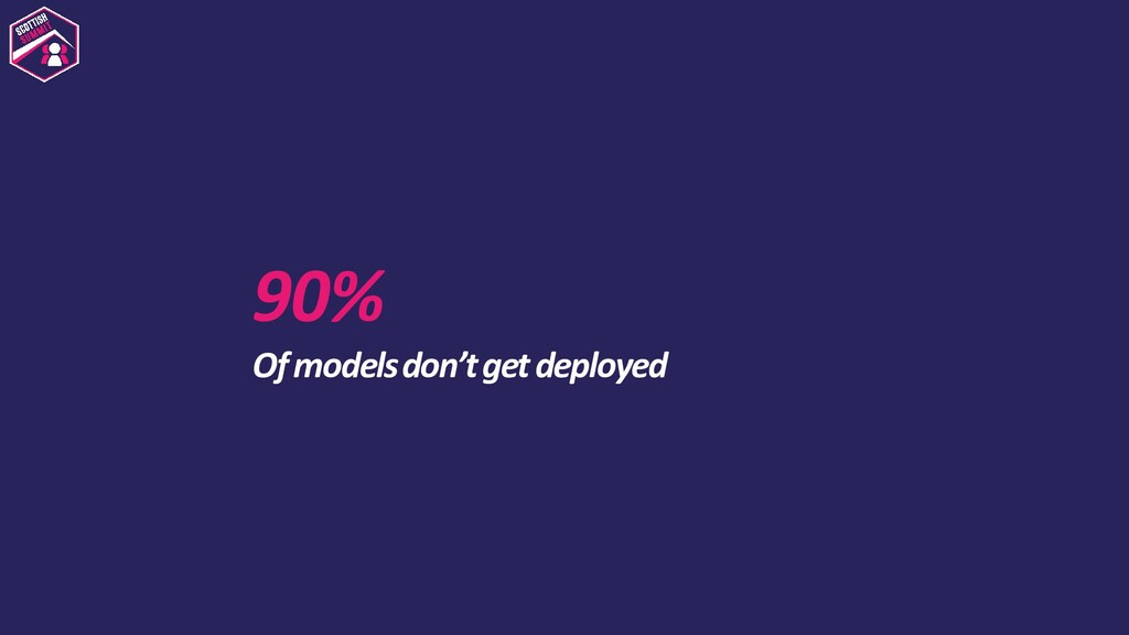 90% Of models don't get deployed
