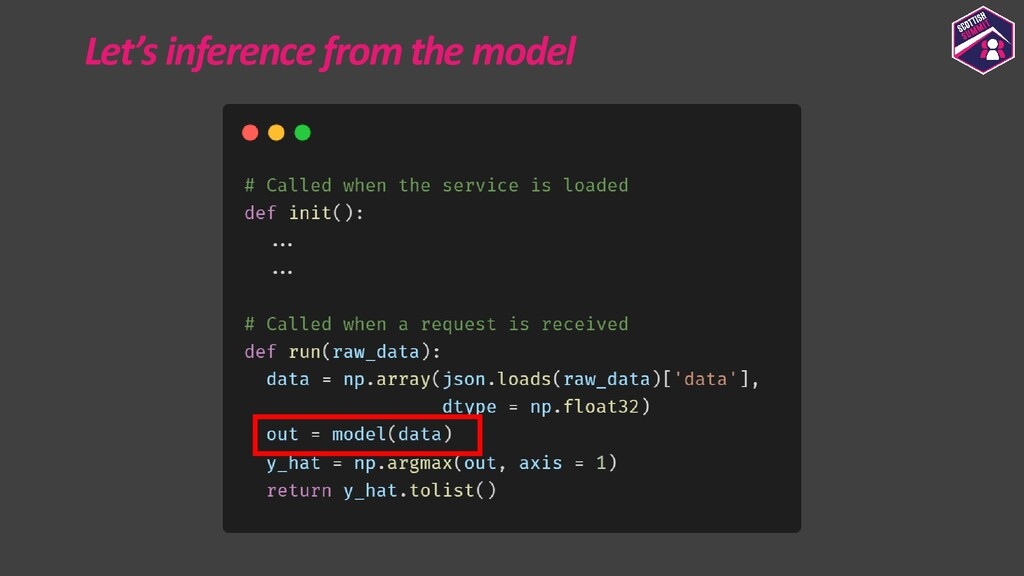 Let's inference from the model