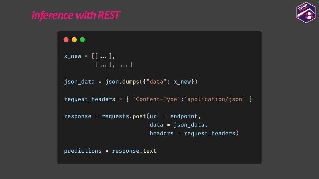 Inference with REST