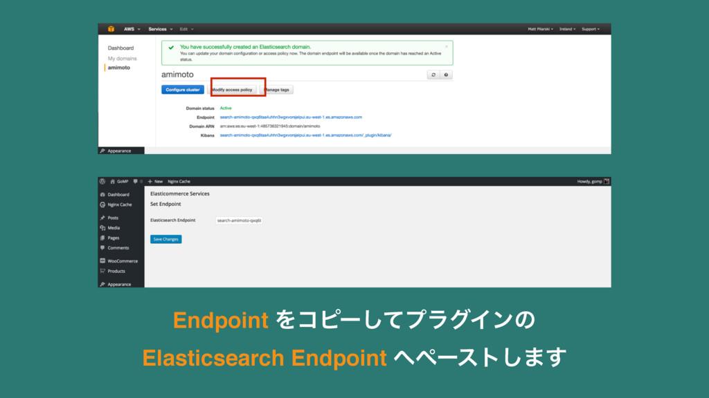 Endpoint Λίϐʔͯ͠ϓϥάΠϯͷ Elasticsearch Endpoint ...