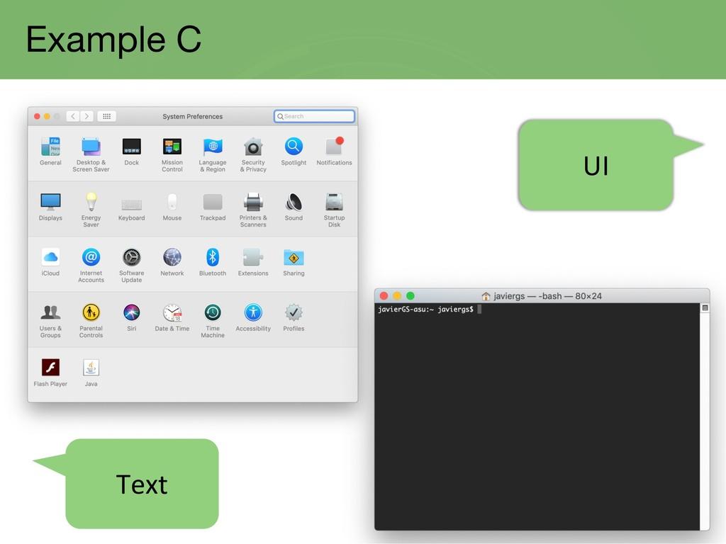Example C UI Text