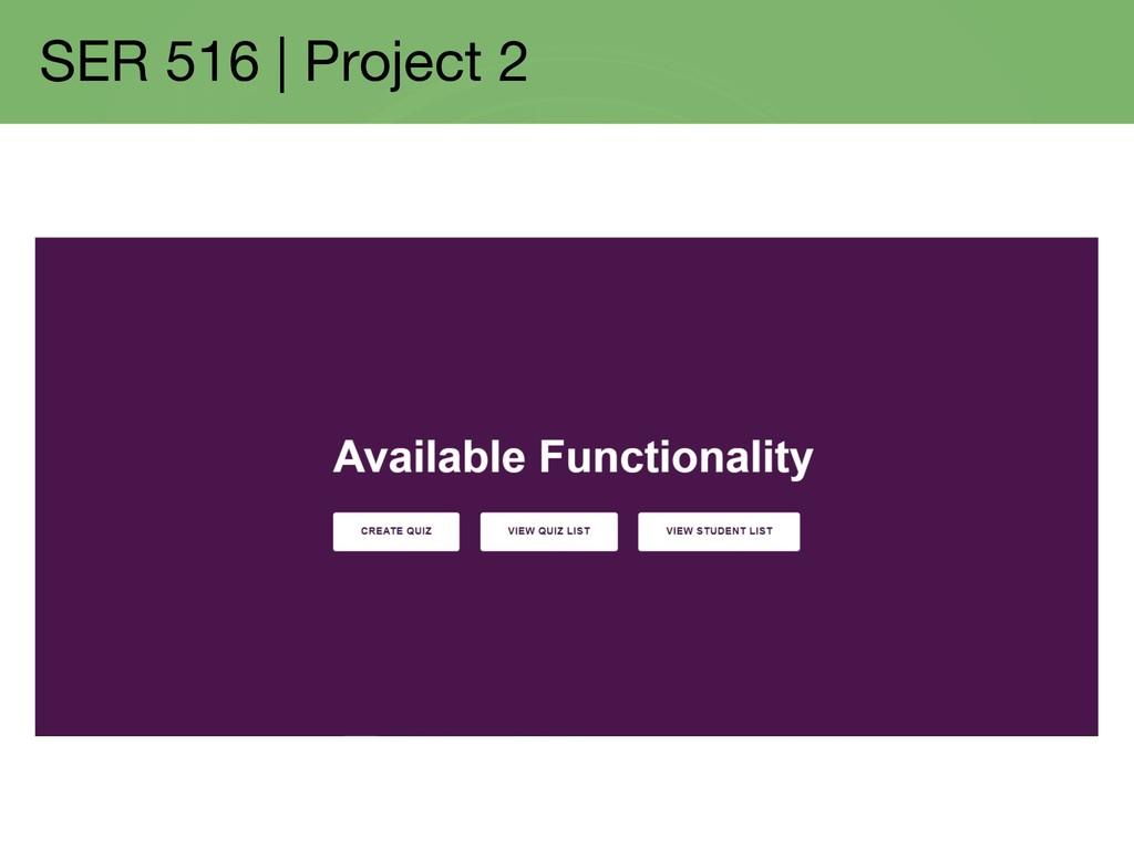 SER 516 | Project 2