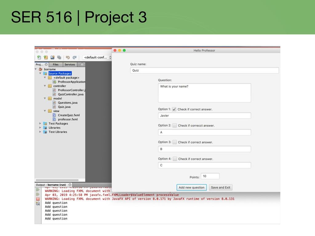 SER 516   Project 3