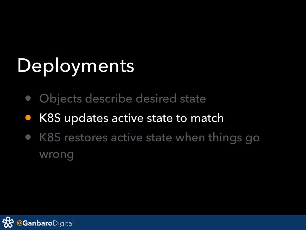 @GanbaroDigital Deployments • Objects describe ...