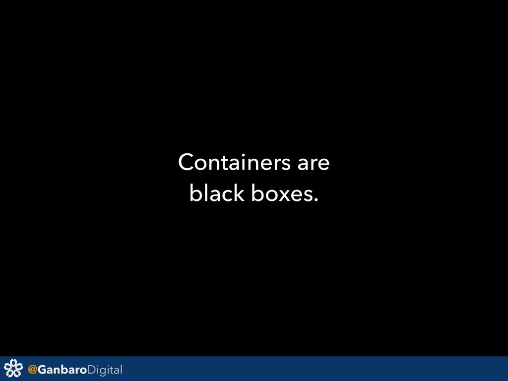 @GanbaroDigital Containers are black boxes.