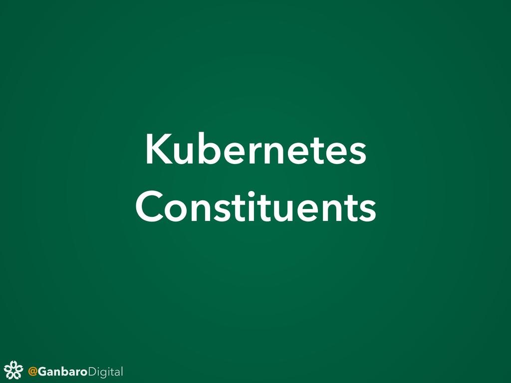 @GanbaroDigital Kubernetes Constituents