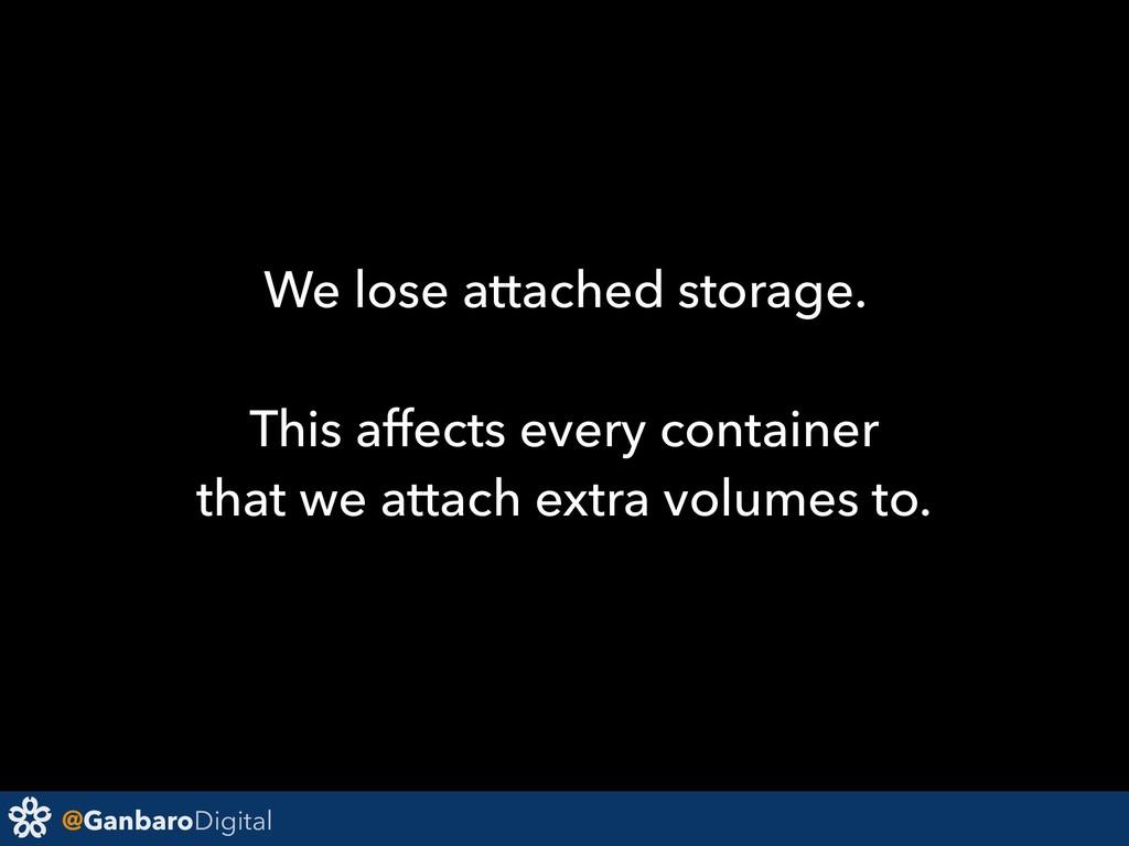 @GanbaroDigital We lose attached storage. This ...
