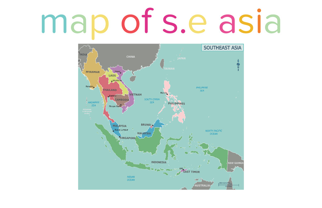 map of s.e asia