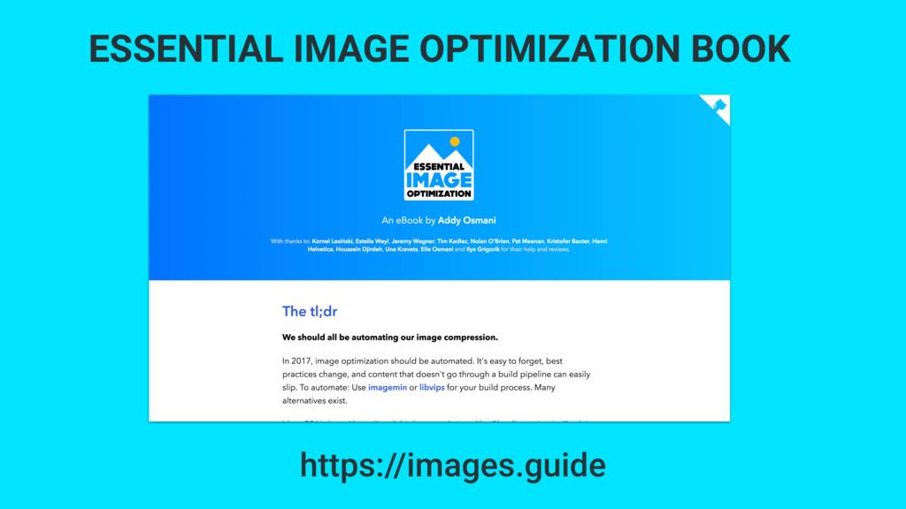 ESSENTIAL IMAGE OPTIMIZATION BOOK https://image...