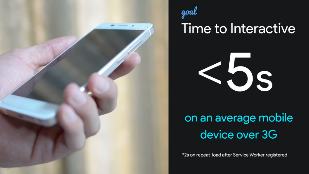 Time to Interactive <5s on an average mobile de...