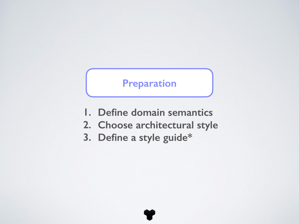 Preparation 1. Define domain semantics 2. Choose...