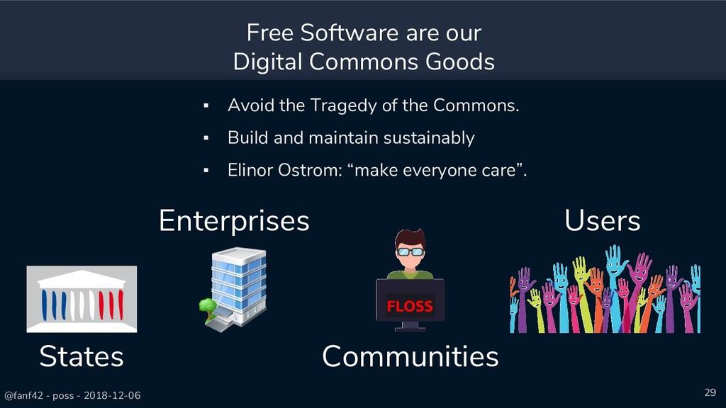 @fanf42 - poss - 2018-12-06 29 Free Software ar...