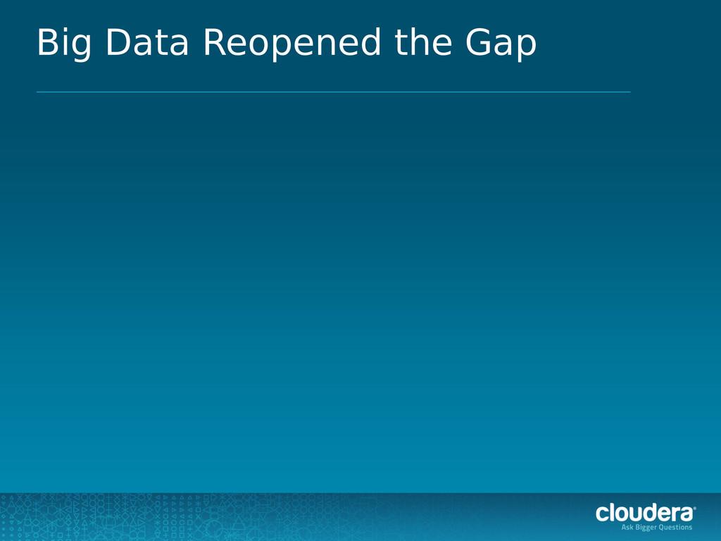 Big Data Reopened the Gap