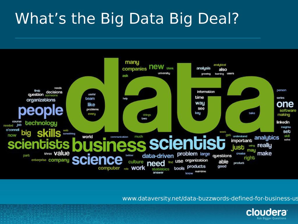 What's the Big Data Big Deal? www.dataversity.n...