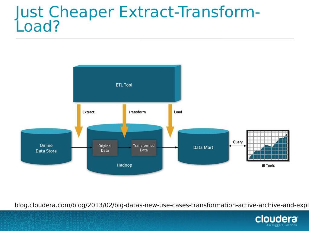 Just Cheaper Extract-Transform- Load? blog.clou...