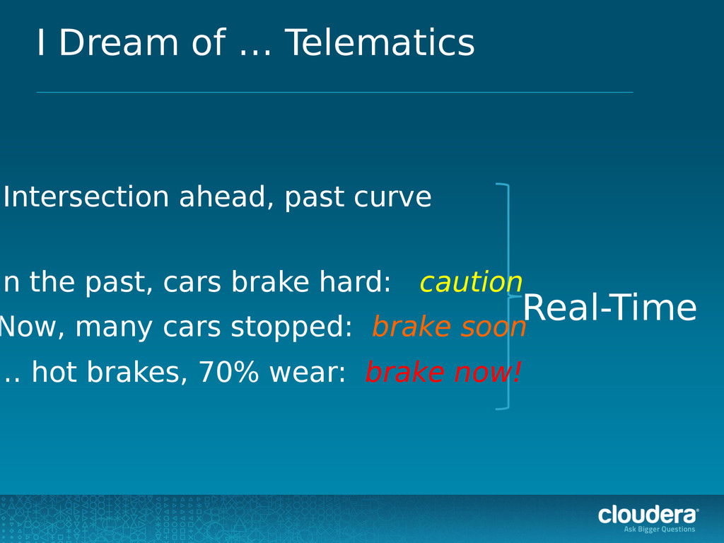 I Dream of … Telematics Intersection ahead, pas...