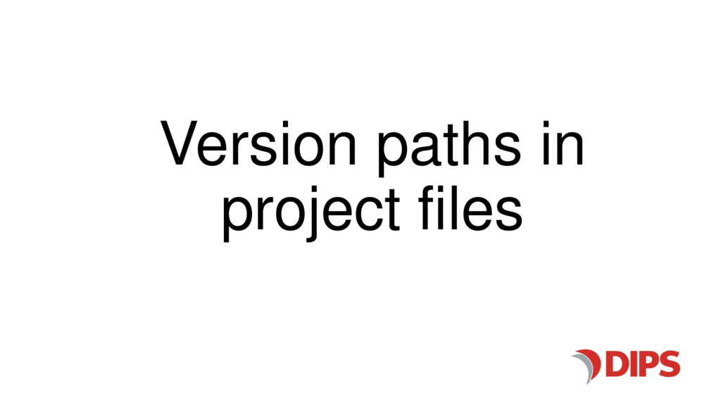 Version paths in project files