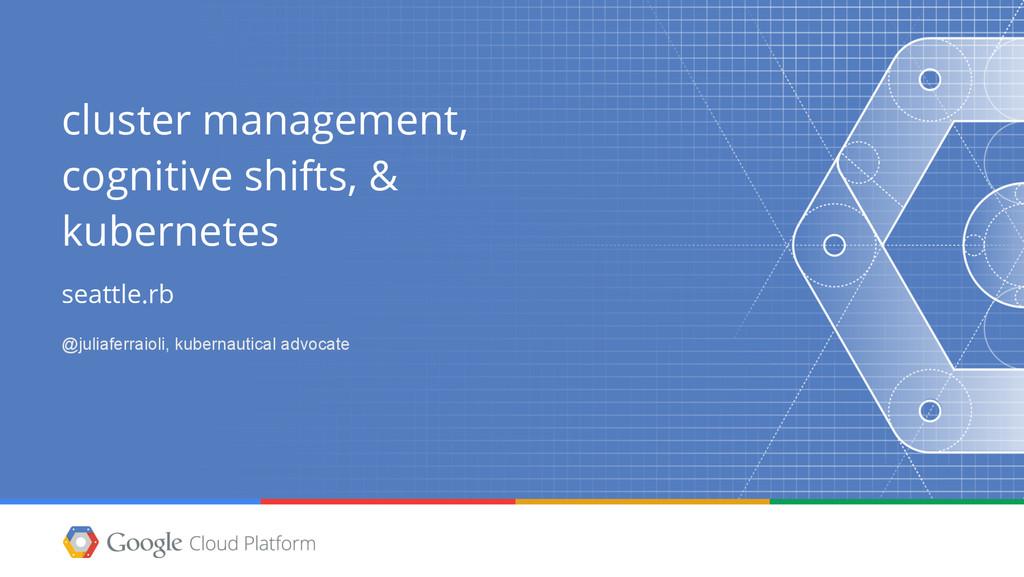 cluster management, cognitive shifts, & kubern...