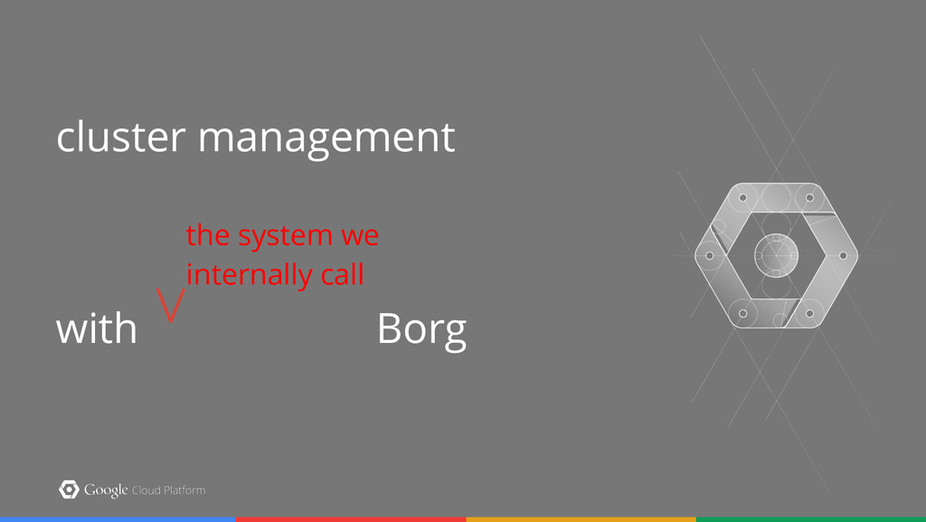 cluster management   with Borg the system we ...