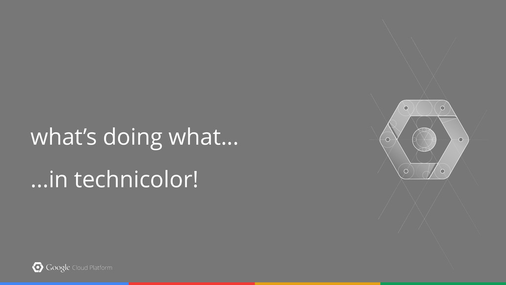 ...in technicolor! what's doing what...
