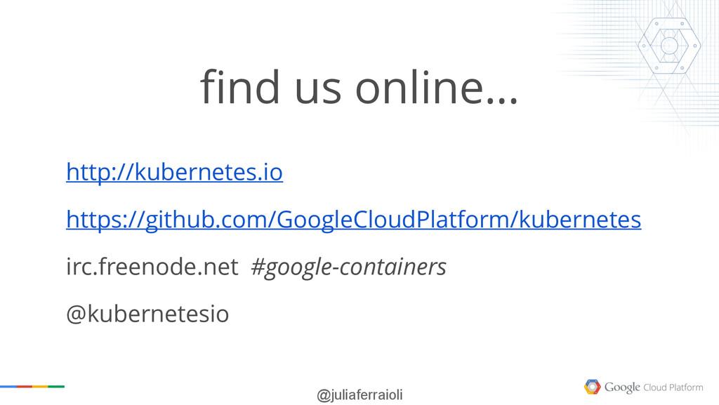 @juliaferraioli find us online… http://kubernet...