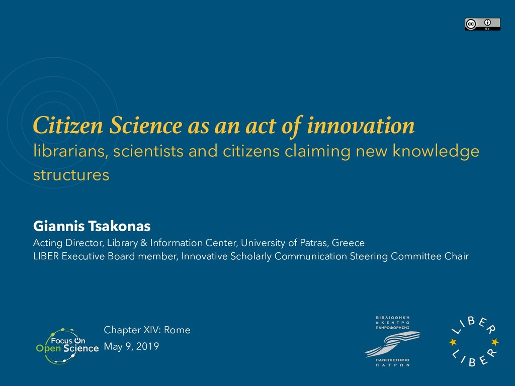 Citizen Science as an act of innovation librari...