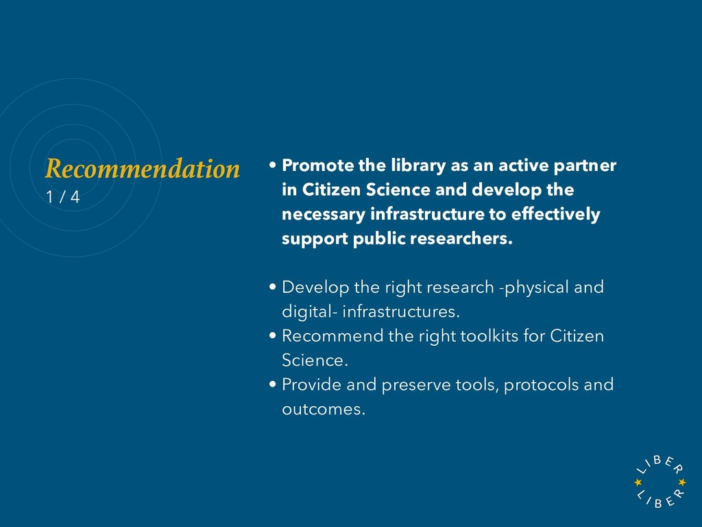 • Promote the library as an active partner in C...
