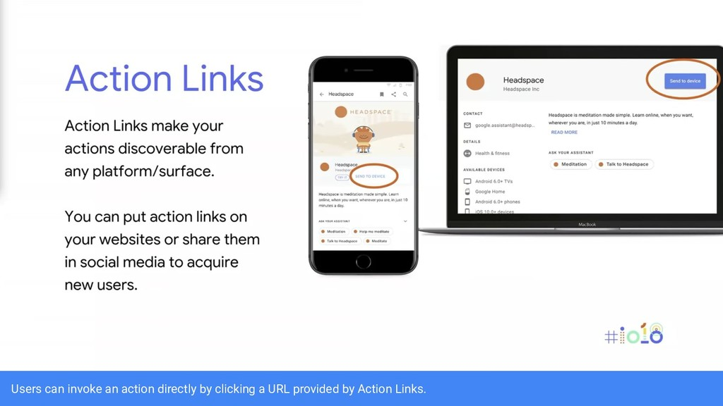 Users can invoke an action directly by clicking...