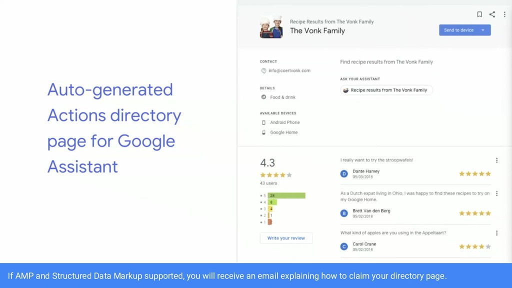 If AMP and Structured Data Markup supported, yo...
